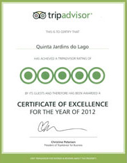 TripAdvisor Certificate of Excellence - 2012